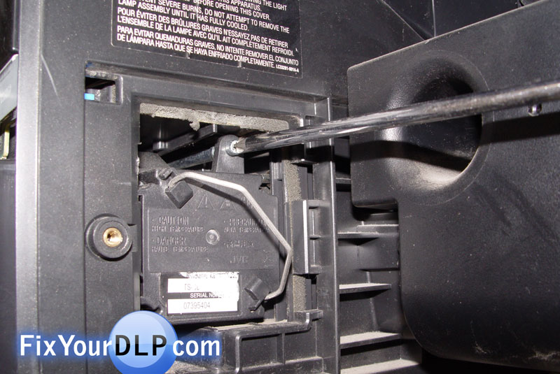 How to replace JVC TS-CL110U lamp enclosure for your ...