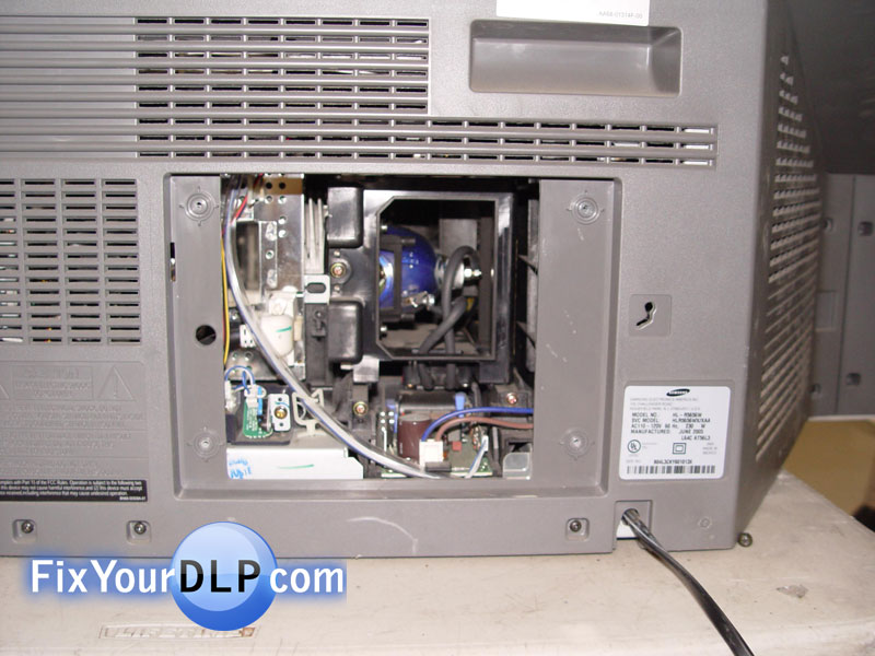 How to replace Samsung lamp enclosure for your DLP TV - Resource ...