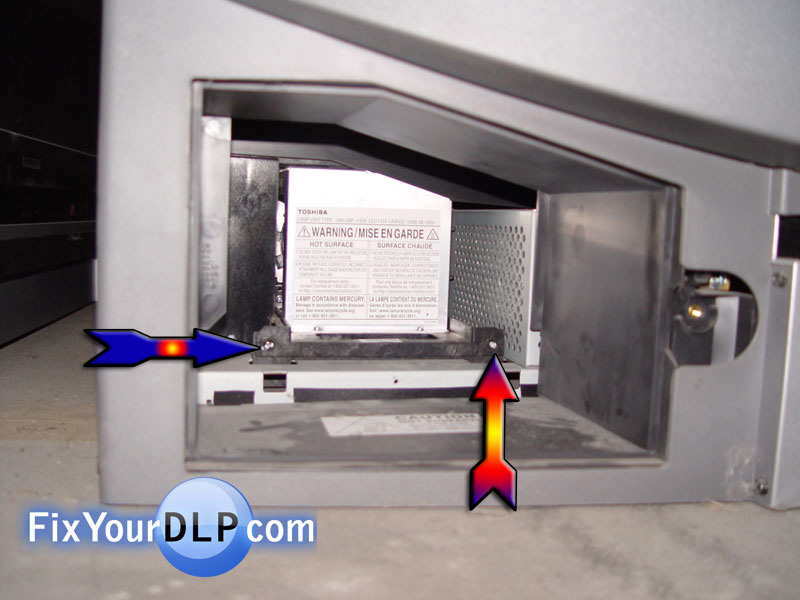 How to replace Toshiba lamp enclosure for your DLP TV - Resource ...